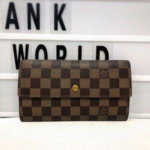 Louis Vuitton Sarah Damier Ebene Trifold Wallet